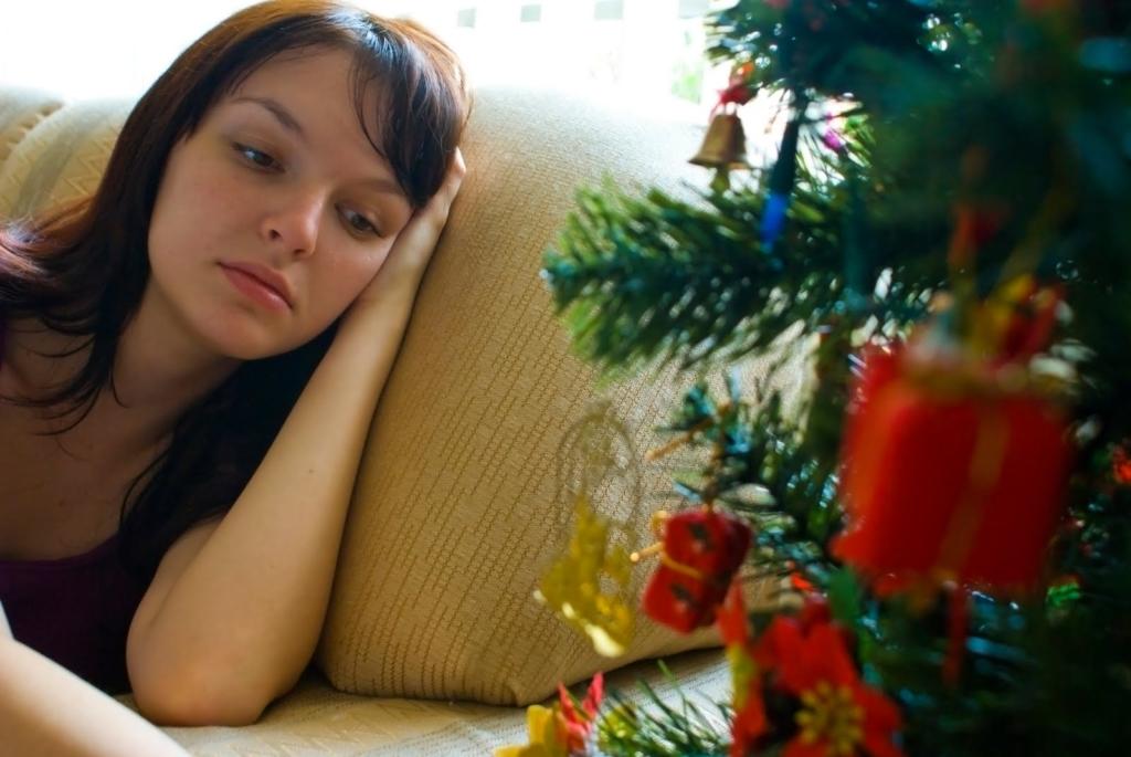 sad girl during the holidays