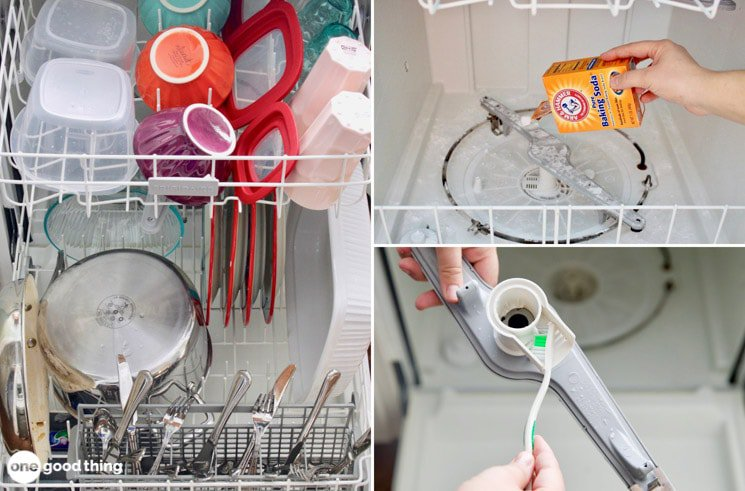dish washer cleaning