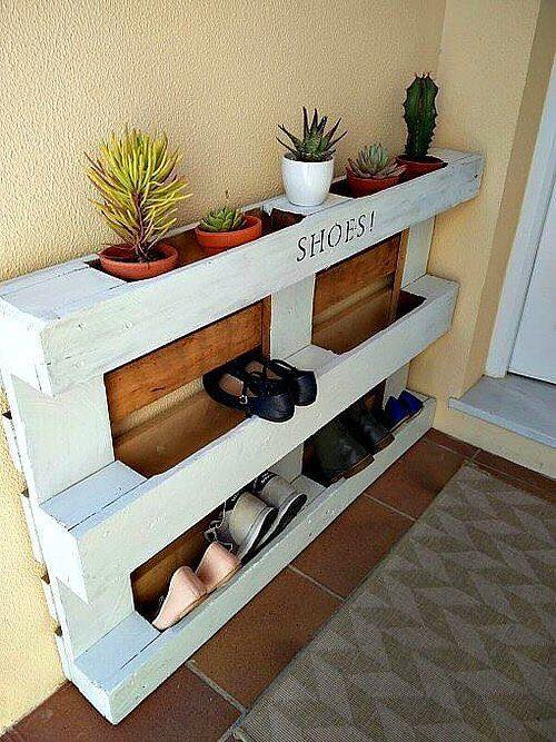 shoes in mudroom