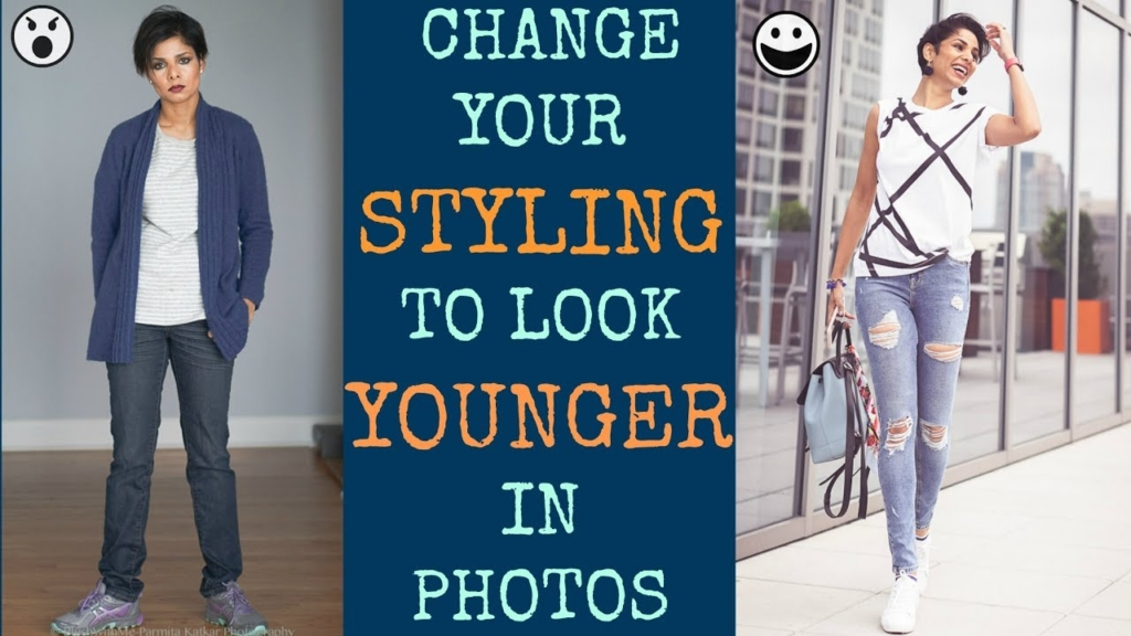 look younger with different styling