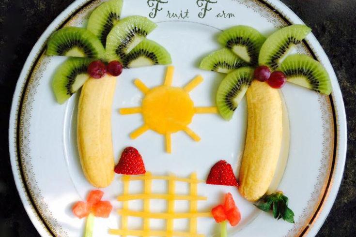 banana palm trees