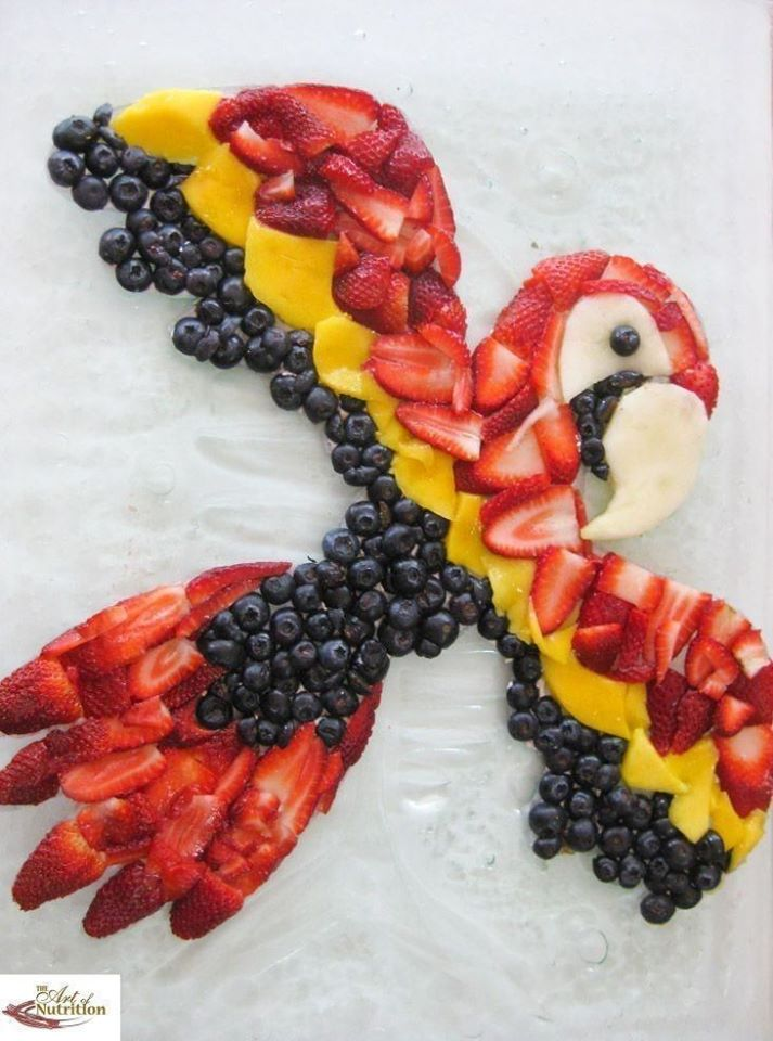 must see bird fruit art