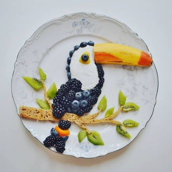bird fruit art
