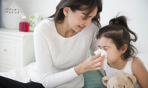 taking care of kids when you are sick