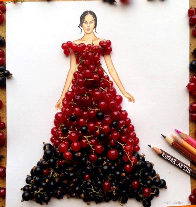 dress with fruits