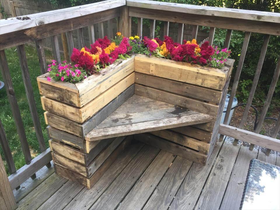 pallet box planters