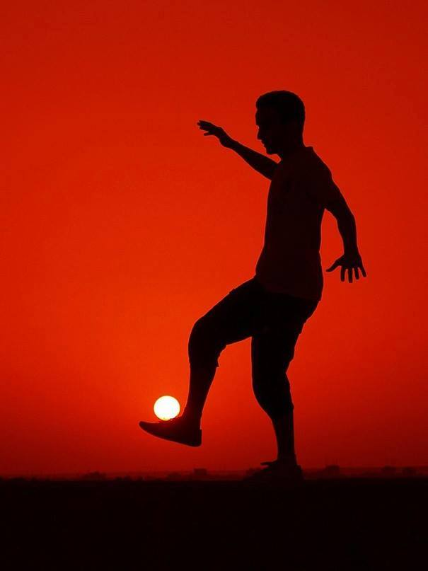 playing ball with the sun