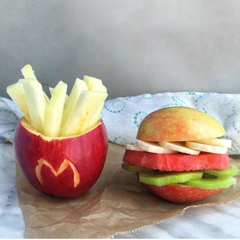 junk food with apple