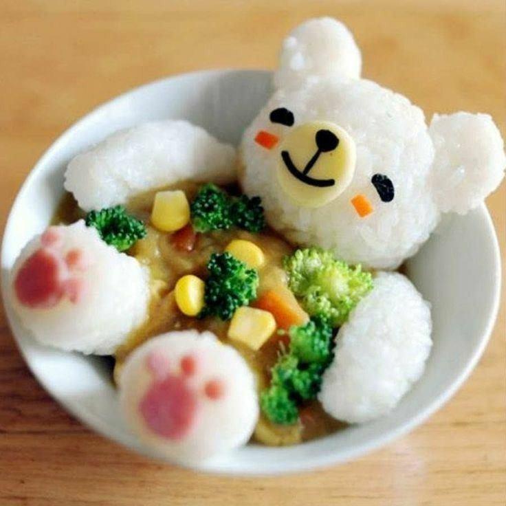 white rice art