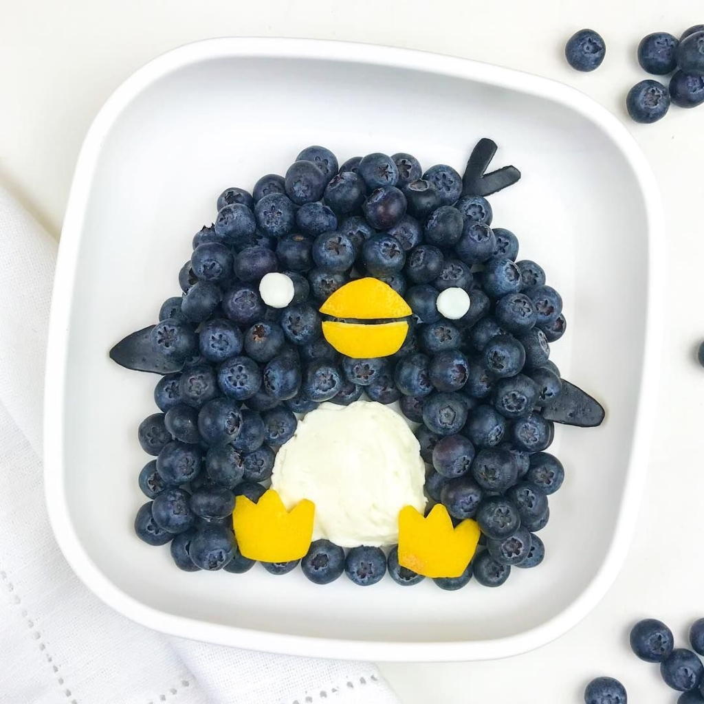 fun idea - blueberry penguins