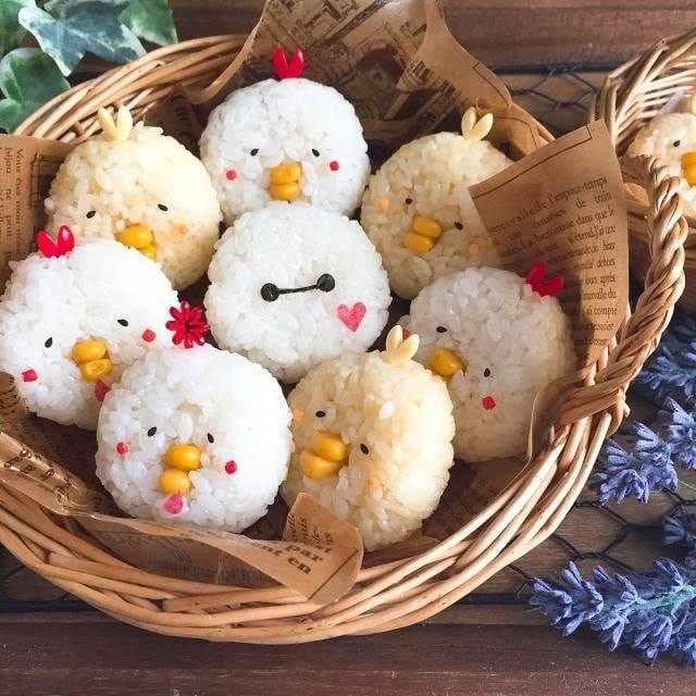 white rice birds