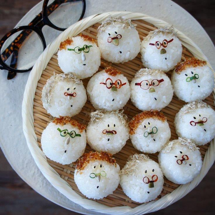 white rice balls
