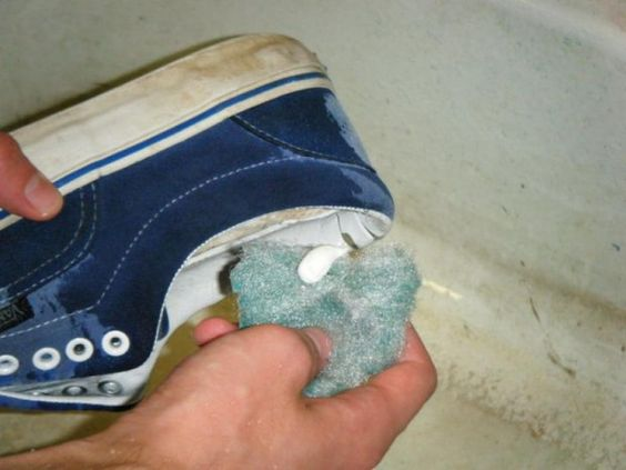 cleaning old sneakers